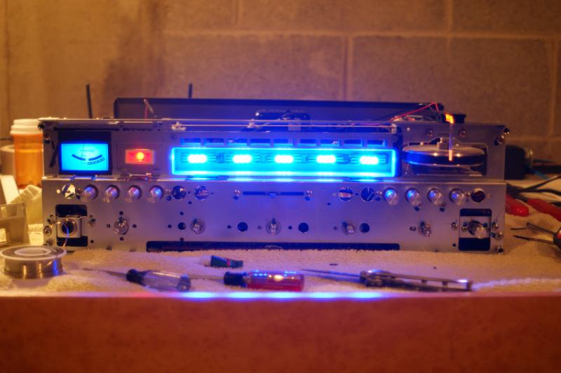 printed model inside Marantz 2220B with lights on