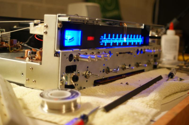 Testing the Marantz 2220B before assembly