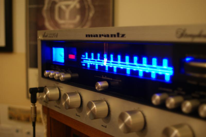 final shots of Marantz 2220B after restoration