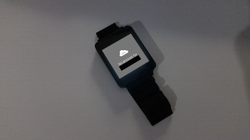 No Account for Google Profile on Android Wear Watch