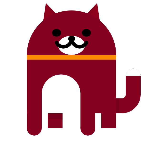 Dark red cat from Android Nougat Easter Egg